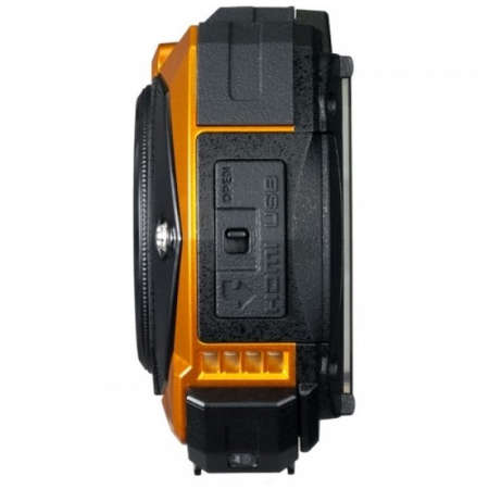 Aparat foto compact Ricoh WG-50 16 Mpx subacvatic Orange Kit Husa si Floating strap