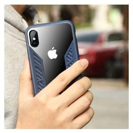 Husa Protectie Spate Benks Future 3D Full Albastru pentru Apple iPhone X
