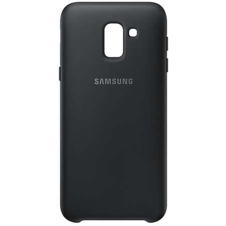 Husa Protectie Spate Samsung Galaxy J6 2018 J600 Dual Layer Cover Black