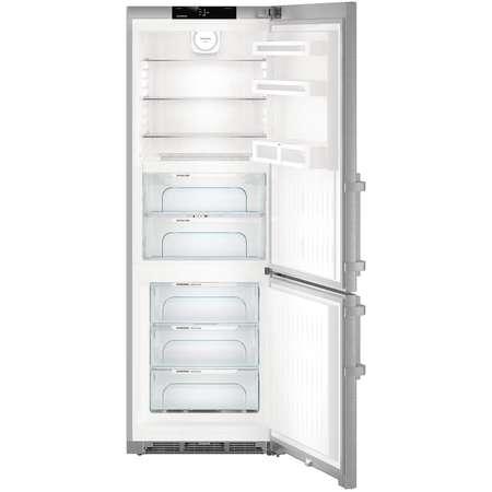 Combina frigorifica Liebherr CBNef 5715 Gama Comfort 381 litri Clasa A+++  NoFrost Argintiu