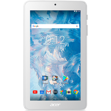 Tableta Acer Iconia One 7 Procesor MediaTek MT8167B Quad Core 7 inch 1.3 GHz 1 GB RAM Bluetooth Android 7.0 Nougat White