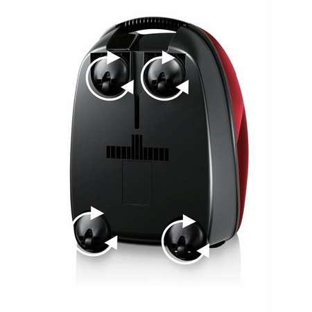 Aspirator cu sac Bosch BGL3A132 4 Litri Tub telescopic metalic 600 W Filtru Pure Air Negru/Rosu