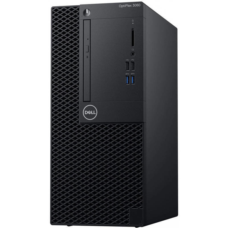 Sistem desktop OptiPlex 3060 MT Intel Core i3-8100 4GB DDR4 256GB SSD Linux 3Yr BOS Black thumbnail