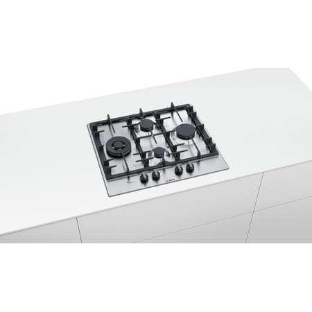 Plita pe gaz incorporabila Bosch PCI6A5B90 4 arzatoare 60 cm Inox