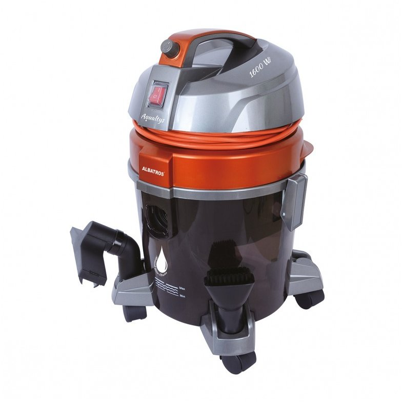 Aspirator cu filtrare prin apa Aqualtys 7.2 litri 1600W Orange