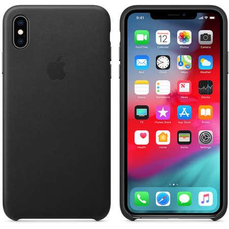 Husa Protectie Spate Apple iPhone XS Max Leather Case Black