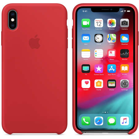 Husa Protectie Spate Apple iPhone XS Max Silicone Case Red