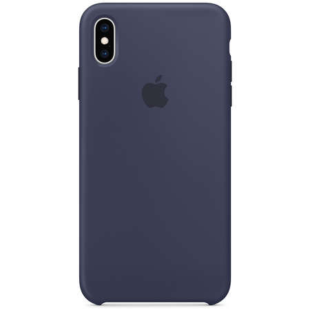 Husa Protectie Spate Apple iPhone XS Max Silicone Case Midnight Blue