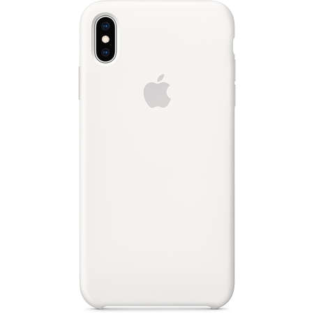 Husa Protectie Spate Apple iPhone XS Max Silicone Case White