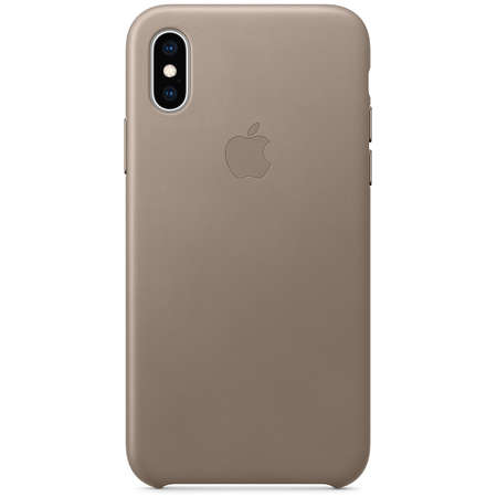 Husa Protectie Spate Apple iPhone XS Leather Case Taupe