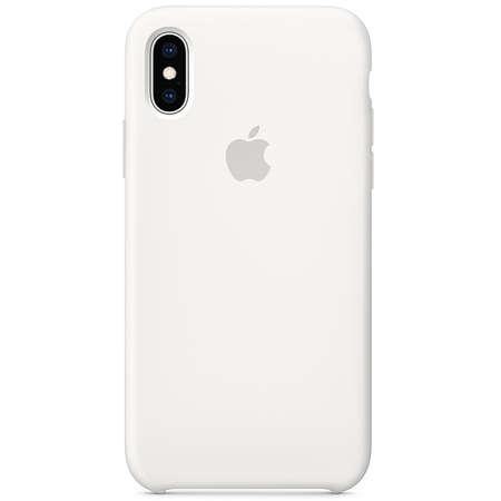 Husa Protectie Spate Apple iPhone XS Silicone Case White