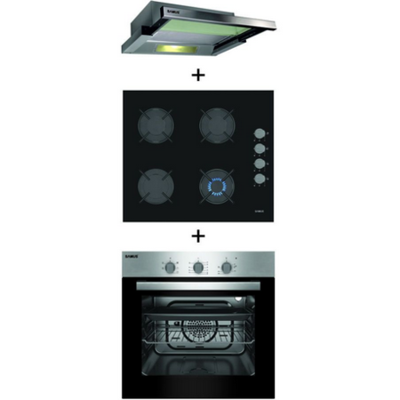 Pachet Samus Cuptor incorporabil SC616GTXV + Plita incorporabila PS648BSG + Hota incorporabila HS602TX