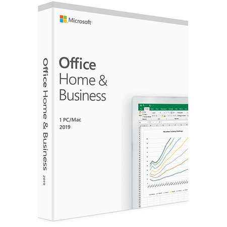 Microsoft Office Home and Business 2019 English EuroZone Medialess 1 User
