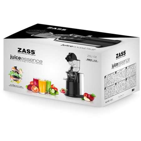 Storcator lent de fructe si legume cu melc Zass ZSJ 02 250W Inox / Negru