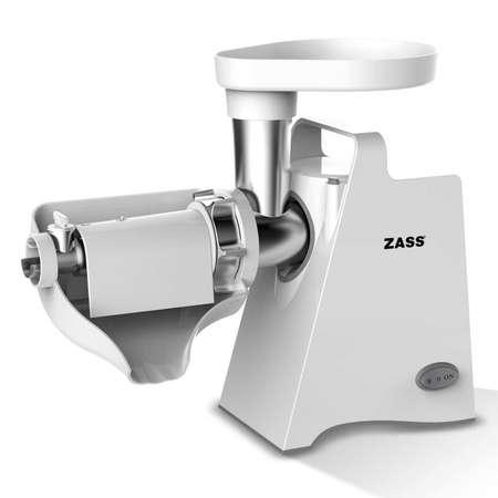 Masina de tocat Zass ZMG 09 White 800W 3 Discuri incluse Alb