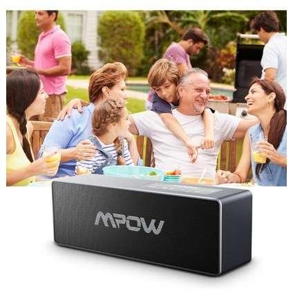 Boxa portabila Mpow Dual Bluetooth 4.1 Negru