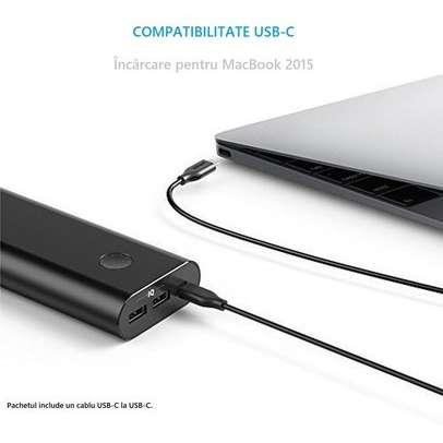 Acumulator extern Anker PowerCore+ 20100 mAh USB-C Negru plus 3 cabluri gratis