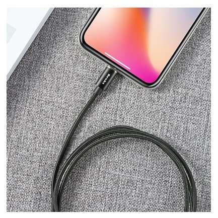 Cablu de date Benks D21 Lightning magnetic 1.2 m Negru