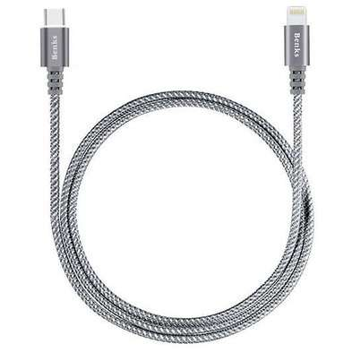 Cablu de date Benks USB-C Lightning 1m Gri