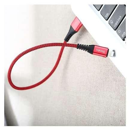 Cablu de date Benks D26 Chidian Lightning 0.25m Rosu