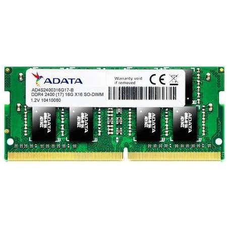 Memorie laptop ADATA 16GB DDR4 2400MHz CL17 1.2v