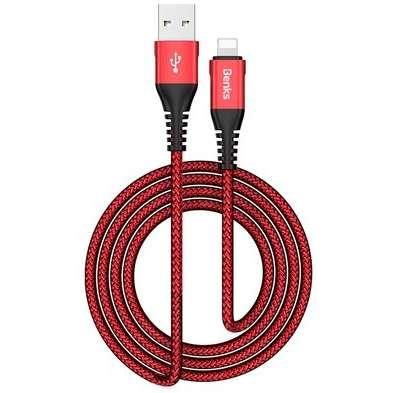 Cablu de date Benks D26 Chidian Lightning 1.2m Rosu