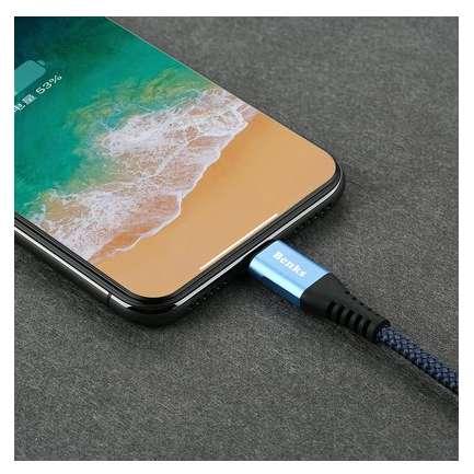 Cablu de date Benks D26 Chidian Lightning 1.8m Albastru