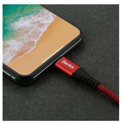 Cablu de date Benks D26 Chidian Lightning 1.8m Rosu