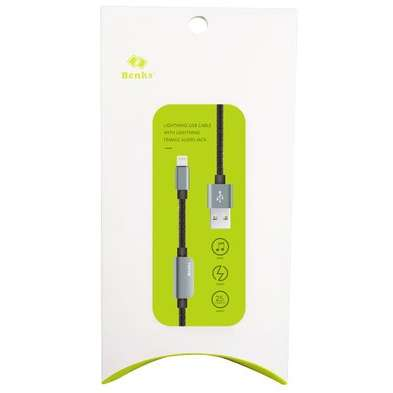 Cablu adaptor Benks D20 Lightning audio 0.25m Gri