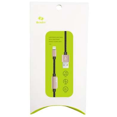 Cablu adaptor Benks D20 Lightning audio 0.25m Rose Gold