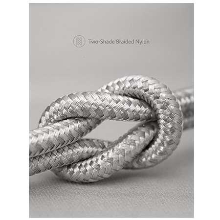 Cablu de date Anker PowerLine+ II Lightning 0.91m Argintiu plus husa cadou