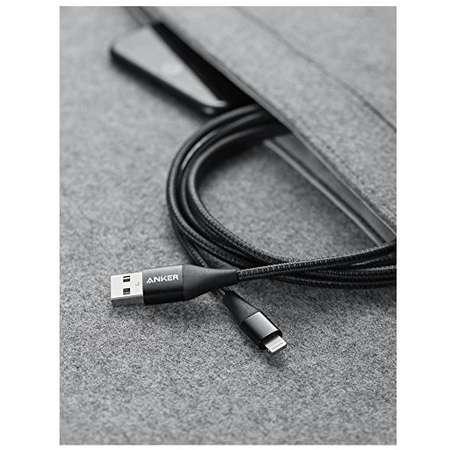 Cablu de date Anker PowerLine+ II Lightning 0.91m Negru plus husa cadou