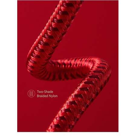 Cablu de date Anker PowerLine+ II Lightning 1.8m Rosu plus husa cadou