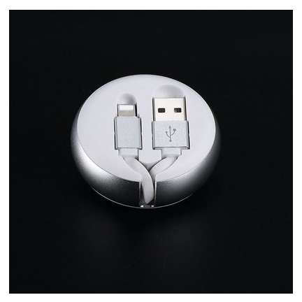 Cablu retractabil Benks D28 Lightning 0.9 m Argintiu