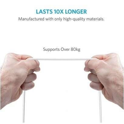 Cablu de date Anker PowerLine+ Nylon MicroUSB 1.8 m Alb