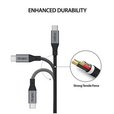 Cablu de date Ringke Premium USB-C USB-C 3.0 1.2 m Negru