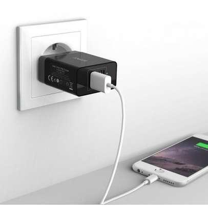 Incarcator retea Anker PowerPort 24W 2x USB PowerIQ Negru plus cablu microUSB 1m