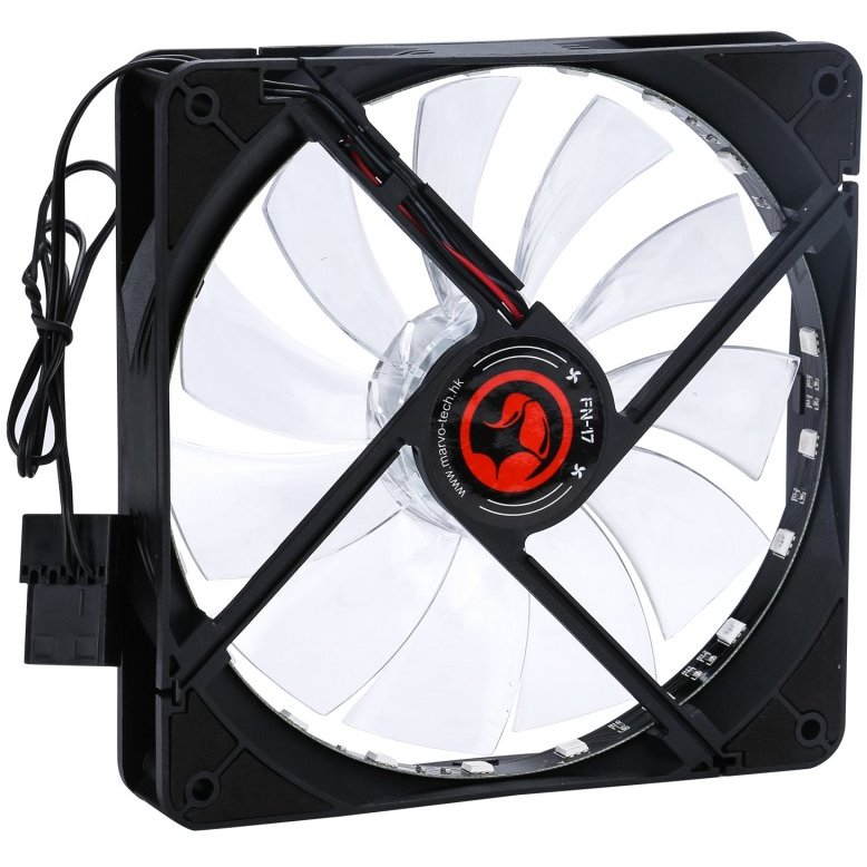 Ventilator FN-17 LED 7 culori 140 mm