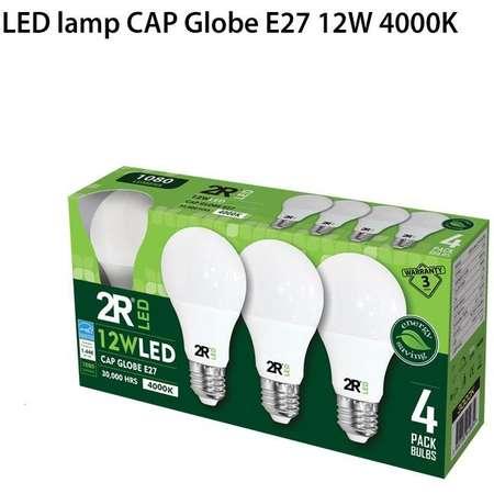 Set 4 becuri Led 2R A602230 A60 E27 12W 1080 lm A++ lumina neutra