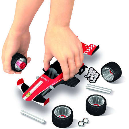 Set de constructie Geomag Magnetic Wheels Team Speed 25 piese