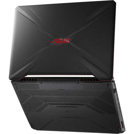 Laptop Asus TUF FX505GE-BQ145 15.6 inch FHD Intel Core i7-8750H 8GB DDR4 1TB HDD 256GB SSD nVidia GeForce GTX 1050 Ti 4GB Black