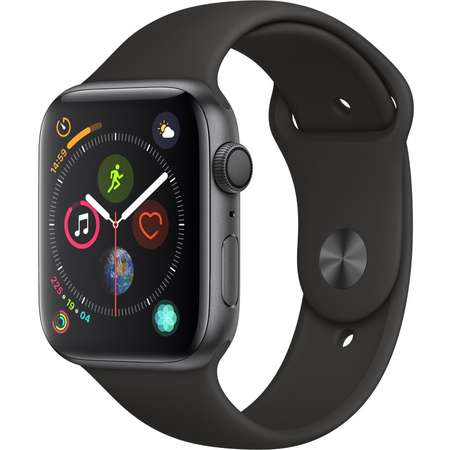 Smartwatch Apple Watch Series 4 GPS 44mm Space Grey Aluminium Case with Black Sport Band