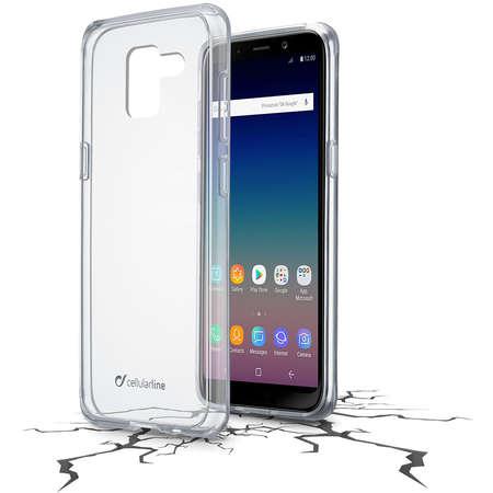 Husa Protectie Spate Cellularline CLEARDUOGALJ618T Clear Duo pentru SAMSUNG Galaxy J6 2018