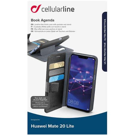 Husa Flip Cover Cellularline BOOKAGENDAMATE20LK Agenda Negru pentru HUAWEI Mate 20 Lite