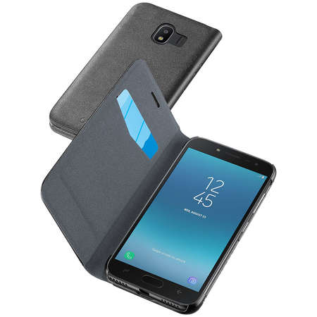 Husa Flip Cover Cellularline BOOKGALJ418K Agenda Negru pentru SAMSUNG Galaxy J4 2018