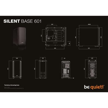 Carcasa Be quiet! Silent Base 601 Black