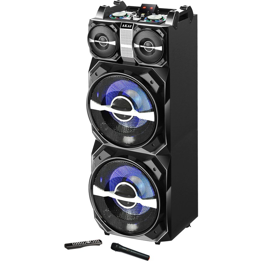 Boxa activa fixa DJ-T5 Dual USB SD Bluetooth Wi-Fi 300W + Telecomanda thumbnail