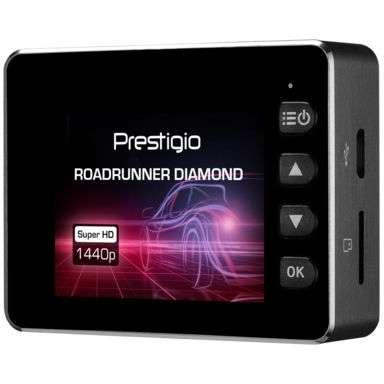 Camera auto DVR Prestigio RoadRunner Diamond PCDVRR590W 2 inch HD 2MP G-Sensor Wi-Fi Black