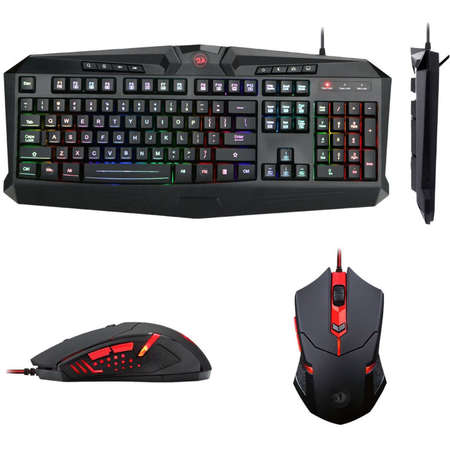 Kit tastatura si mouse Redragon Gaming Essentials S101-1 Combo Black