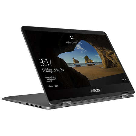 Laptop Asus ZenBook Flip 14 UX461FA-E1041R 14 inch FHD Touch Intel Core i7-8550U 8GB DDR3 SSD 512GB SSD Windows 10 Pro Grey